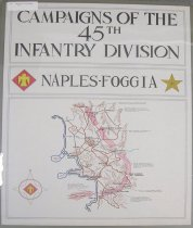 "Image of 7294-7367 - Poster, World War II, ""Campaigns of the 45th Infantry Division"""