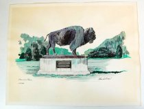 Image of 7294-7676 - Painting, Pioneers Park by Paul N. Norton