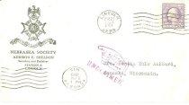 Image of 7294-7696 - Envelope, Nebraska Society
