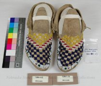 Image of 7306-1-(1-2) - Moccasins, Sioux, Checkerboards