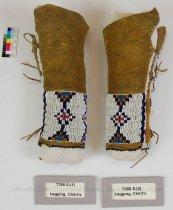 Image of 7366-5-(1-2) - Leggings, Pair; Leather; Baby; Beaded; Geometric