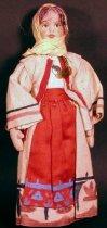 Image of 7403-77 - Doll; Cloth; Girl; Greek Peasant Girl
