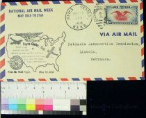 Image of 7721-119 - Cover, Postal, National Airmail Week, Hayes Center, Nebraska