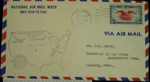 Image of 7721-166 - Cover, Postal, National Airmail Week, Nelson, Nebraska