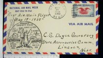Image of 7721-223 - Cover, Postal, National Airmail Week, Steinauer, Nebraska