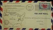 Image of 7721-238 - Cover, Postal, National Airmail Week, Tobias, Nebraska