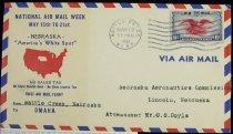 Image of 7721-25 - Cover, Postal, National Airmail Week, Battle Creek, Nebraska
