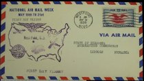 Image of 7721-257 - Cover, Postal, National Airmail Week, West Point, Nebraska