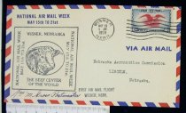 Image of 7721-261 - Cover, Postal, National Airmail Week, Wisner, Nebraska
