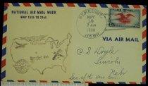 Image of 7721-31 - Cover, Postal, National Airmail Week, Benedict, Nebraska
