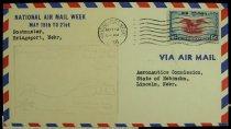 Image of 7721-43 - Cover, Postal, National Airmail Week, Bridgeport, Nebraska