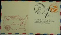 Image of 7721-58 - Cover, Postal, National Airmail Week, Chapman, Nebraska