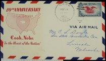 Image of 7721-68 - Cover, Postal, National Airmail Week, Cook, Nebraska