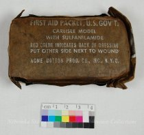 Image of 7822-60 - First Aid Pack; Carlisle Model Acme Cotton Product Co., Paper Wrapped