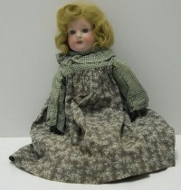Image of 7879-2 - Doll, Bisque, Kid & Cloth; Girl
