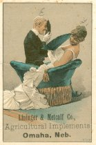 Image of 7956-2201 - Advertising Card; Linninger & Metcalf Agric. Implems., Omaha