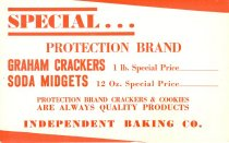 Image of 7956-2910-(1) - Flyer, Special Protection Brand Graham Crackers, Independent Baking Co.