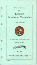 Image of 7956-5262 - Booklet, Lincoln Paints and Varnishes