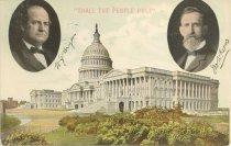 Image of 7956-6068 - Postcard; William Jennings Bryan/Kern
