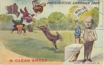 """Image of 7956-6074 - Postcard; William Jennings Bryan; """"A Clean Sweep"""""""