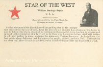 Image of 7956-6085 - Postcard; William Jennings Bryan; Star of the West