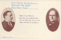 """Image of 7956-6086 - Postcard; William Jennings Bryan; """"Hurrah for Bill!"""""""