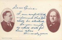 Image of 7956-6089 - Postcard; William Jennings Bryan and William Howard Taft