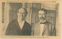 Image of 7956-6108 - Postcard; William Jennings Bryan/Kern; Fairview