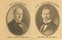 Image of 7956-6109 - Postcard; William Jennings Bryan/Kern