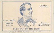 Image of 7956-6112 - Postcard; William Jennings Bryan; Hunsakers Buffet, Chicago