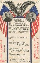 "Image of 7956-6124 - Postcard; William Jennings Bryan/Kern; ""Democratic Straight Ticket"""