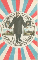 """Image of 7956-6130 - Postcard; William Jennings Bryan; """"From Lincoln to Washington"""""""