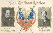 "Image of 7956-6133 - Postcard; William Jennings Bryan/Kern; ""The Nations Choice"""