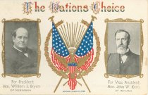 "Image of 7956-6134 - Postcard; William Jennings Bryan/Kern; ""The Nations Choice"""