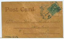 Image of 7956-6136 - Postcard, Leather, Lincoln, NE; Fairview, Bryan Home