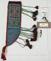 Image of 7957-11 - Knife Sheath, Loom Beaded; Geometric, Yarn Tassels