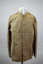 Image of 7964-1 - Jacket,  Khaki, USA, Army, Spanish American War, Pvt. Frank H. Johnson, Co.M,1NE; 2 W/ Same#