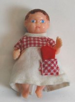 Image of 8024-128 - Doll; Plastic; Girl; Baby