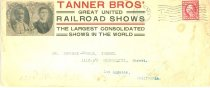 Image of 8073-168 - Envelope, Tanner Bros' Great United Railroad Shows