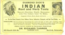 Image of 8073-170 - Envelope, Diamond Dick's Indian Root and Herb Tonic