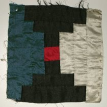 Image of 8102-3 - Quilt Block, Pieced, 1; Log Cabin, Silk
