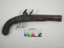 Image of 8241-691-(1) - Pistol, Flintlock, Philip Bond; flintlock pistol is associated with cased set 8241-691-(1-12)