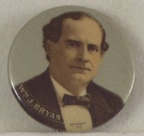 Image of 8281-8 - Button, Political; William Jennings Bryan
