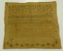 Image of 8288-12 - Sampler; Elizabeth Guyton, or Guxcon, 1811