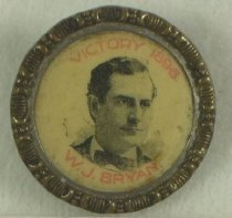 Image of 8298-1 - Button, Political; William Jennings Bryan