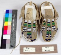 Image of 84-(1-2) - Moccasins, Girls, Stripe; Sioux, Stripe