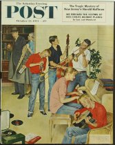 Image of 8592-40 - Clipping, Magazine; Cover; John Falter; Offset Lithograph; Jam Session; Saturday Evening Post; October 23, 1954