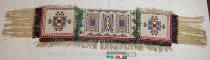 Image of 8634-166 - Saddle Blanket; Ornamental; Beaded: Geometric; Fringe; Bells