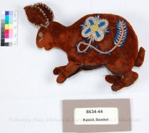 Image of 8634-44 - Rabbit, Velvet, Beaded