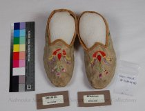 Image of 8634-80-(A-B) - Moccasins, Plains Style, Floral, Separate Sole